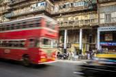 Double-decker bus bus in India — Стоковое фото