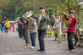 Vietnamca yaşlılar Tai Chi pratik — Stok fotoğraf