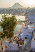City of Pushkar in India. — Stock Photo