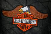 Harley Davidson logo patch — Stock Photo