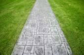 Stone walkway in park — Stock Photo