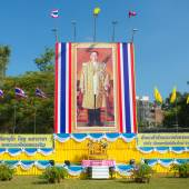 Portrait of Thai King Bhumibol Adulyadej — 图库照片