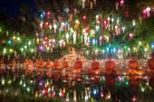 Loy Kratong Festival in Chiangmai, Thailand — Stock Photo