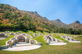 Chinese cemetery in Thailand — 图库照片