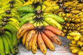 Bunches of ripe bananas — Stock Photo