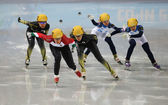 Ladies' 3000 m Heats Short Track Relay — Stock Photo