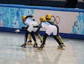 3000 m riscalda Ladies' Short Track Relay — Foto Stock
