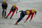 Ladies' 3000 m Heats Short Track Relay — Stockfoto