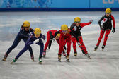 Ladies' 3000 m Heats Short Track Relay — Photo