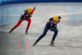 Ladies' 3000 m Heats Short Track Relay — Стоковое фото