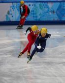 Ladies' 3000 m Heats Short Track Relay — Zdjęcie stockowe