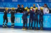 Ladies' 3000 m Heats Short Track Relay — 图库照片