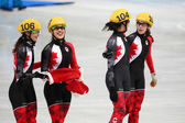 Ladies' 3000 m Heats Short Track Relay — Foto Stock
