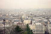 Vista de paris do inverno — Fotografia Stock