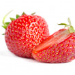 Red sweet strawberrys isolated on white background — Foto Stock