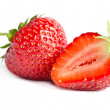 Red sweet strawberrys isolated on white background — Стоковое фото #61789373