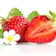 Red sweet strawberrys isolated on white background — 图库照片 #71806609