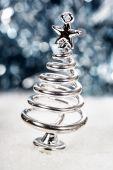 Silver stylized Christmas tree — Stock Photo