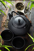 Image of traditional eastern teapot and teacups  — Stock Photo