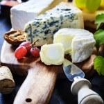 Wine, grape and cheese — Stock Photo #56473953