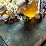 Honey and Herbal tea — Stock Photo #58372707