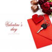 Valentine's day composition — Stock fotografie