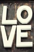 木製の手紙愛」という言葉の形成 — ストック写真