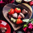 Chocolate and strawberry — Stock Photo #64420687