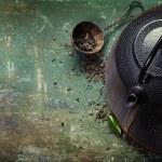 Black iron asian tea set — Stock Photo #66369469