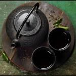 Black iron asian tea set — Stock Photo #70111383