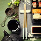 Aziatisch eten achtergrond — Stockfoto