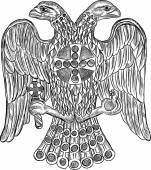 Byzantine águila cabeza doble — Vector de stock