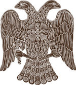Byzantine double headed eagle — Vetor de Stock