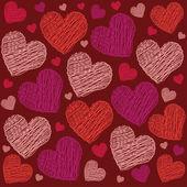 Valentine heart pattern — Stock Vector