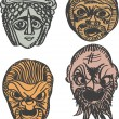 Постер, плакат: Classical ancient Greek drama masks
