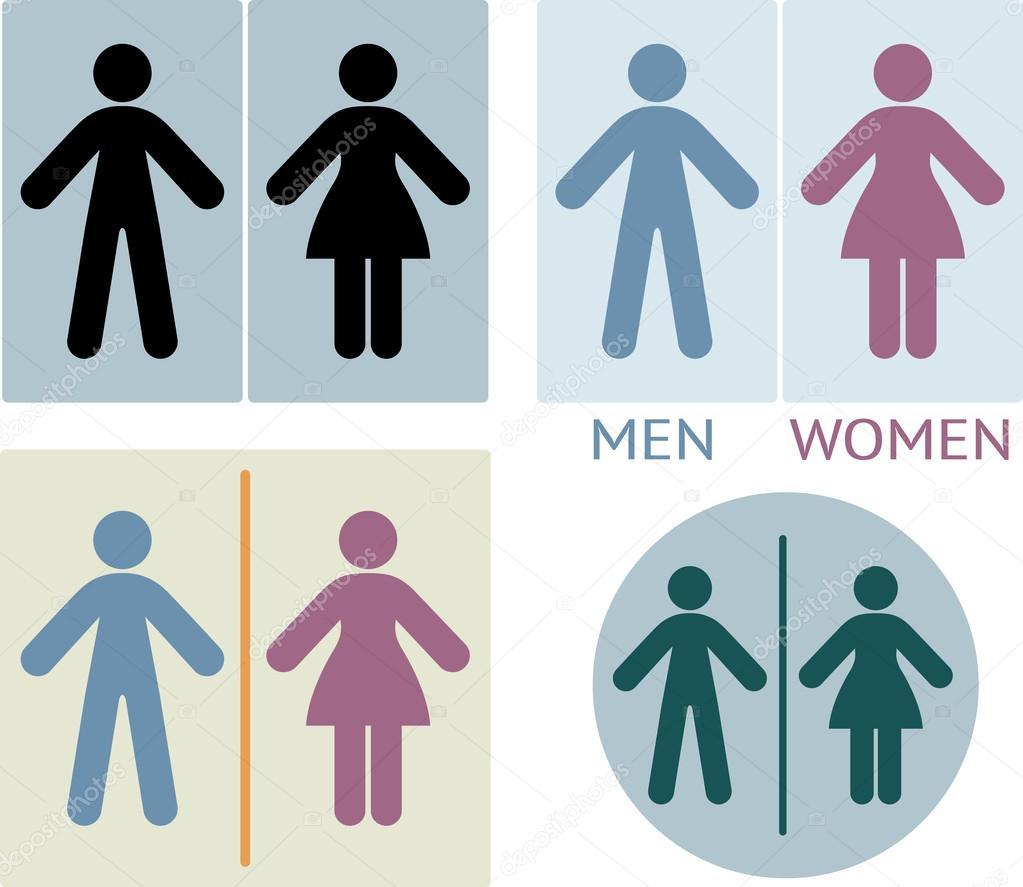 Cartello wc o bagno vettoriale stock 62426291 for Bagno uomini e donne