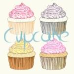 Cupcakes — Stock Vector #62918591