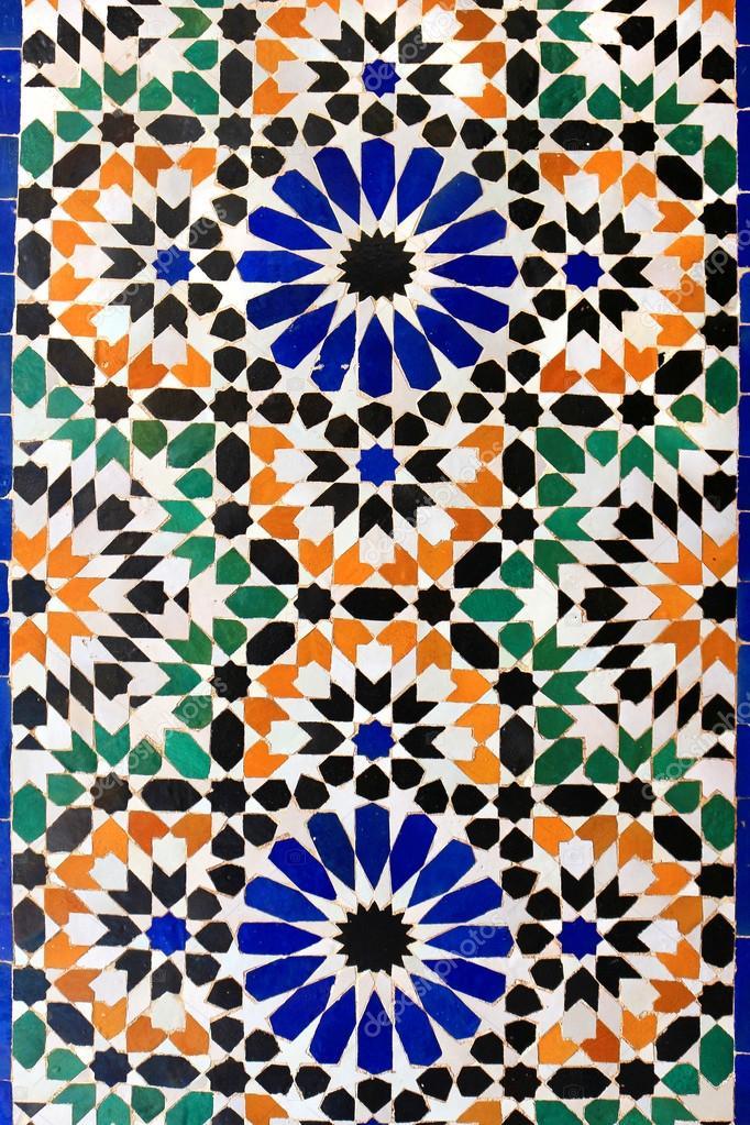 tuiles de mosa que marocaine sur mur photographie gvictoria 108641826. Black Bedroom Furniture Sets. Home Design Ideas