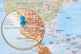 Looking in on Puerto Vallarta, Mexico — Stockfoto