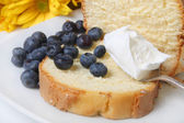 Blueberry shortcake — Stock Photo
