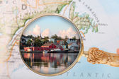 Looking in on Lunenburg, Nova Scotia — Zdjęcie stockowe
