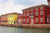 Burano, Italy houses — Stock Photo