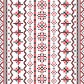 Romanian Embroideries pattern — 图库矢量图片