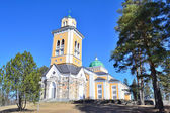 Finland. Wooden Church in Kerimaki — Stock Photo