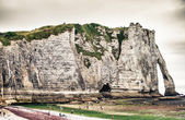 Famous cliffs Aval of Etretat — Stock Photo