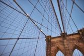 The Brooklyn Bridge at sunset — Stockfoto