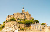 Mont Saint Michel, Haute Normandie. — Stock Photo