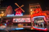 The Moulin Rouge night lights in Paris — Stock Photo
