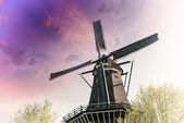 Windmill with colourful sky — Stock Photo