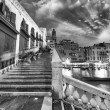 Venice. Rialto Bridge and Grand Canal at dusk — Stock Photo #52101149